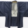 Kimono Set mit Haori Shiborikaro II - Seide antik schwarz-dunkelblau 15