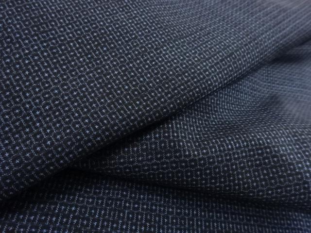 Kimono Set mit Haori Shiborikaro II - Seide antik schwarz-dunkelblau 16