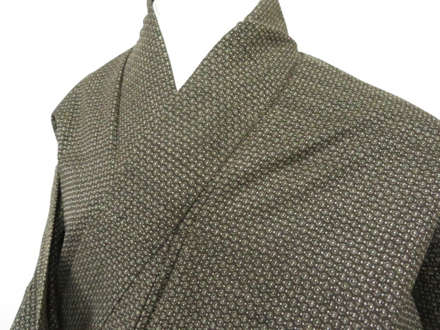 Kimono Kanoko Dot - Baumwolle antik dunkelbraun 2