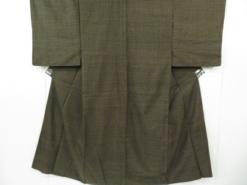 Kimono Kanoko Dot - Baumwolle antik dunkelbraun 19