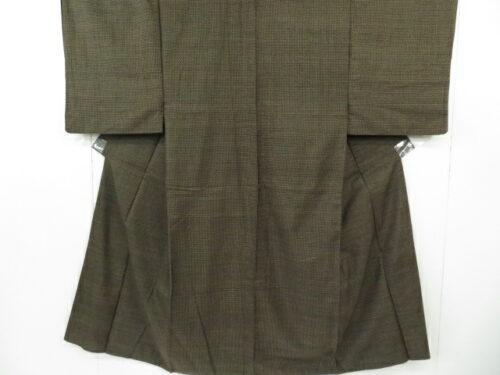 Kimono Kanoko Dot - Baumwolle antik dunkelbraun 15