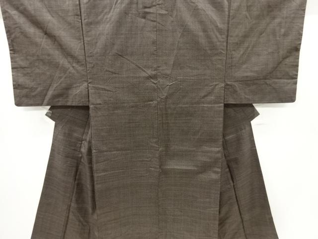 Kimono Set mit Haori Shiborikaro - Seide antik braun 1