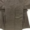 Kimono Set mit Haori Shiborikaro - Seide antik braun 3