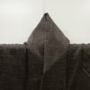 Kimono Set mit Haori Shiborikaro - Seide antik braun 9