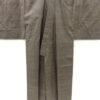 Kimono Set mit Haori Shiborikaro - Seide antik braun 10
