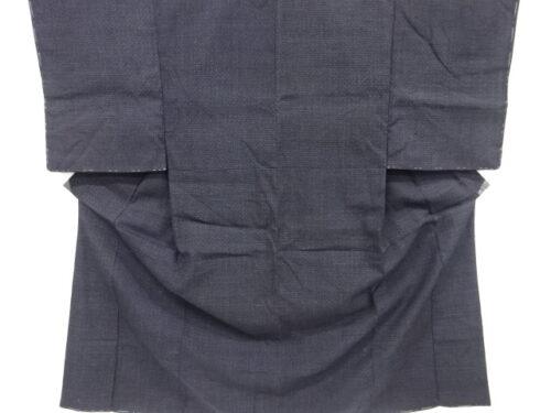 Kimono Kanoko Kreuzkaro - Baumwolle antik blau 1