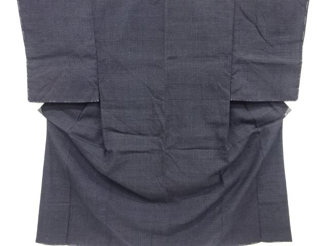 Kimono Kanoko Kreuzkaro - Baumwolle antik tiefschwarz 1
