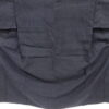 Kimono Kanoko Kreuzkaro - Baumwolle antik tiefschwarz 3