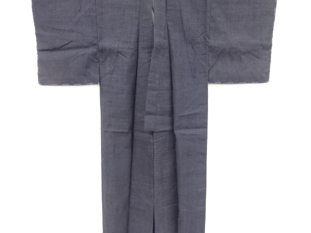Kimono Kanoko Kreuzkaro - Baumwolle antik tiefschwarz 10