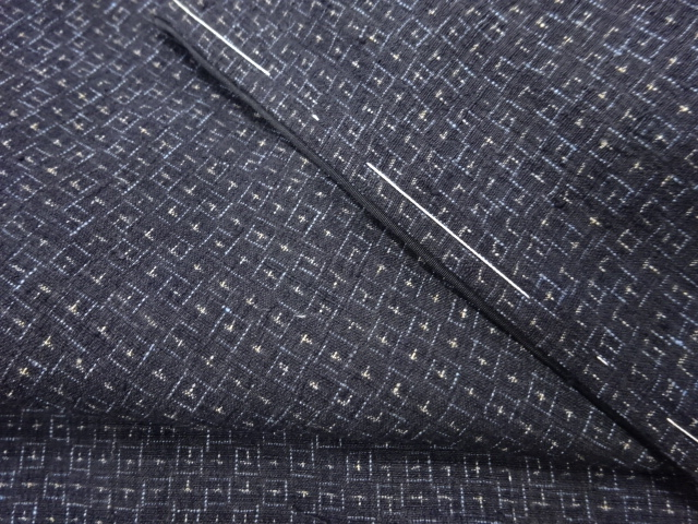 Kimono Kanoko Kreuzkaro - Baumwolle antik tiefschwarz 11
