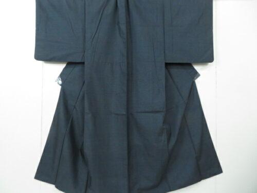 Kimono Set mit Haori Shiborikaro II - Baumwolle antik blau 3