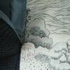 Kimono Set mit Haori Shiborikaro II - Seide antik schwarz 20