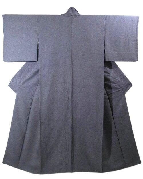 Kimono Kanoko Shibori - Chirimen-Seide antik schwarz 13