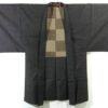 Kimono Set mit Haori Chic Tsumugi - Seide antik dunkelbraun 7