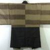 Kimono Set mit Haori Chic Tsumugi - Seide antik dunkelbraun 8