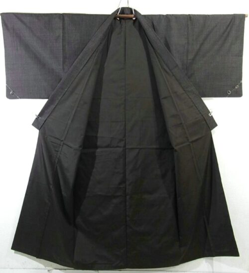 Kimono Set mit Haori Chic Tsumugi - Seide antik schwarz 5