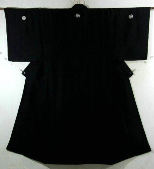 Kimono Set mit Haori Seide antik schwarz 7