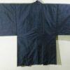 Kimono Set mit Haori Oshima Seide antik nachtblau 3