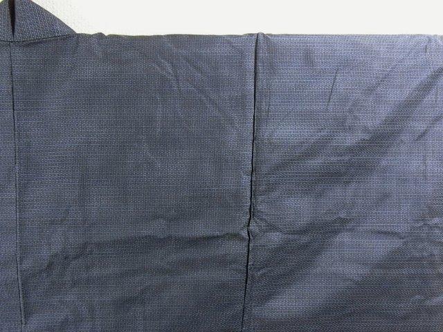 Kimono Set mit Haori Oshima Tsumugi - Seide antik nachtblau 3