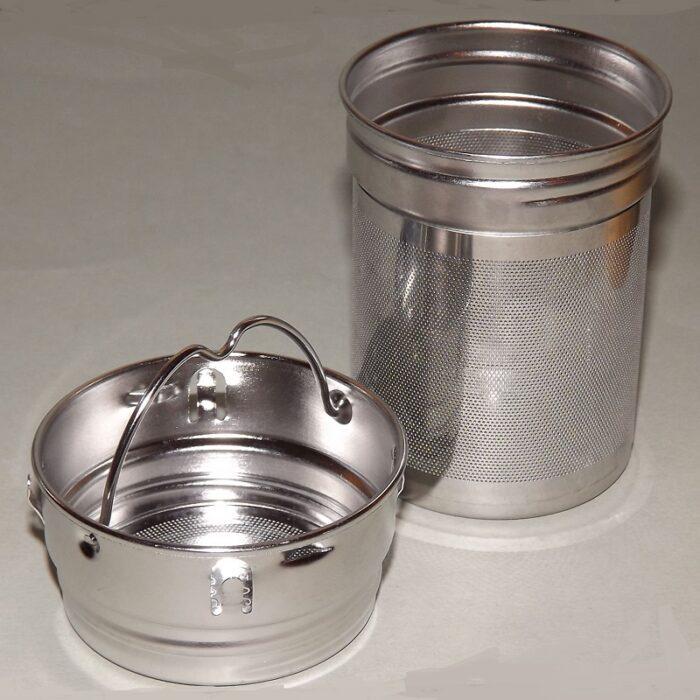 Doppelwand-Glas-Teeflasche mit Bambusdeckel 500ml 7