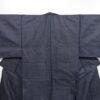 Kimono Set mit Haori Handgewebt - Seide antik anthrazit - Kreuzkaro 2