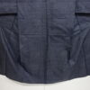 Kimono Set mit Haori Handgewebt - Seide antik anthrazit - Kreuzkaro 3