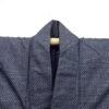 Kimono Set mit Haori Handgewebt - Seide antik anthrazit - Kreuzkaro 9