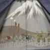 Kimono Set mit Haori Handgewebt - Seide antik anthrazit - Kreuzkaro 13