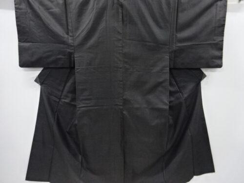 Kimono Set mit Haori Shiborikaro - Seide antik dunkelbraun 13