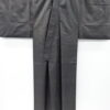 Kimono Set mit Haori Shiborikaro - Seide antik dunkelbraun 4