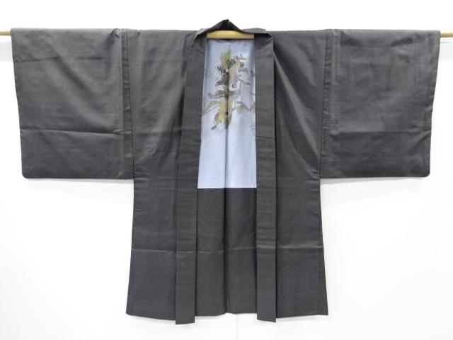 Kimono Set mit Haori Shiborikaro - Seide antik dunkelbraun 9