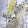 Kimono Set mit Haori Shiborikaro - Seide antik dunkelbraun 11