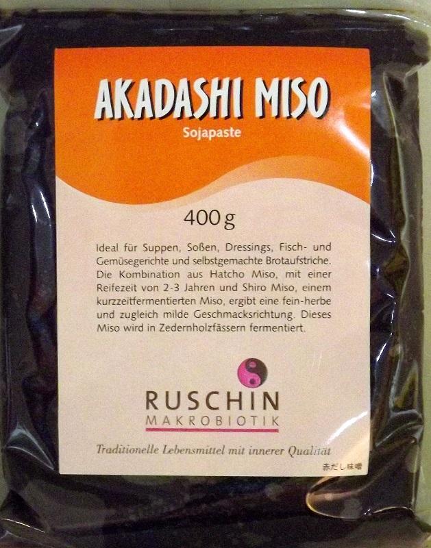 Akadashi Miso 400g Muso - Kombination aus Hatcho- und Shiro-Miso 1