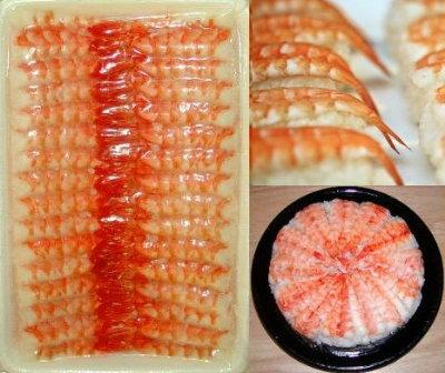 Sushi Ebi Größe '5L' = 9.0-9.5 cm Butterflycut  260g 9
