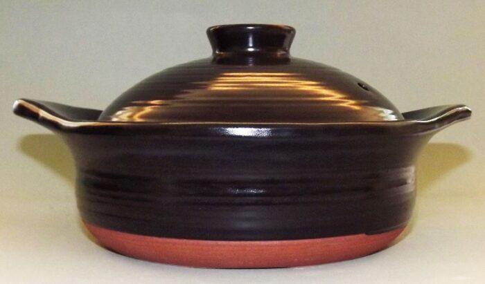 Donabe Topf schwarz 2 Liter - auch für Induktion 1