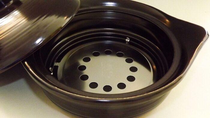 Donabe Topf schwarz 2 Liter - auch für Induktion 3