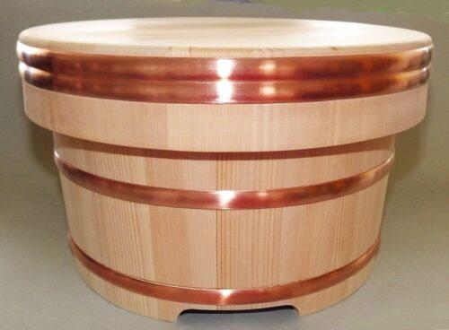 Sushi Edobitsu Sugi mit Kupferreifen 27 cm High Quality 4