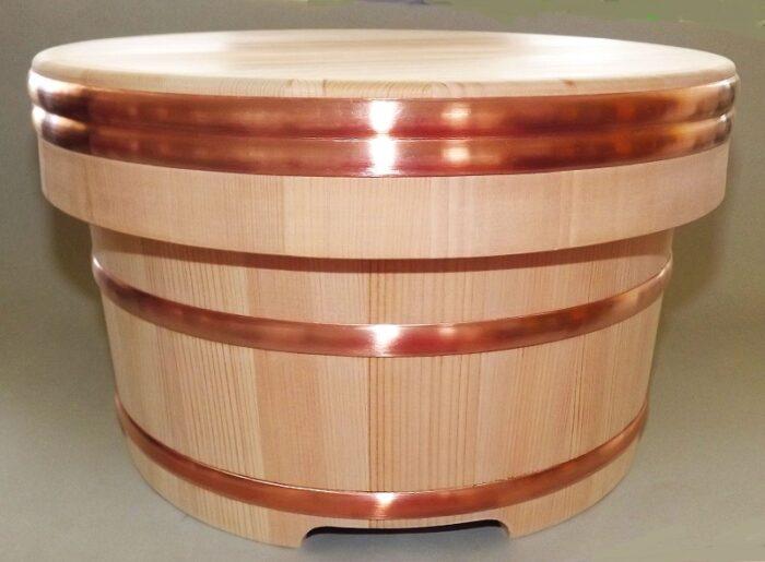 Sushi Edobitsu Sugi mit Kupferreifen 27cm High Quality 1