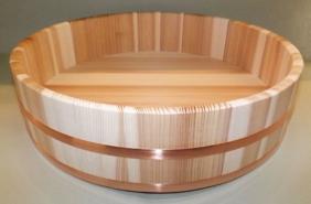 HON SUGI Hangiri 39cm - japanisches Zedernholz mit Kupferreifen - exklusiv für uns gefertigt ! 8