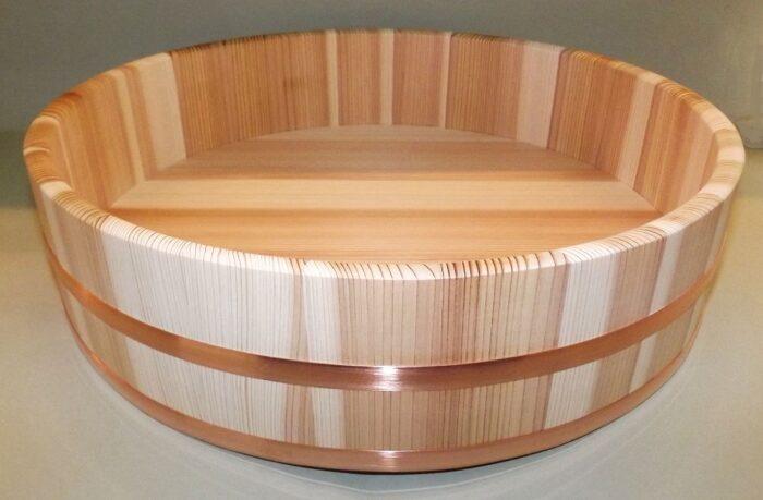 HON SUGI Hangiri 39 cm - japanisches Zedernholz mit Kupferreifen - exklusiv für uns gefertigt ! 1