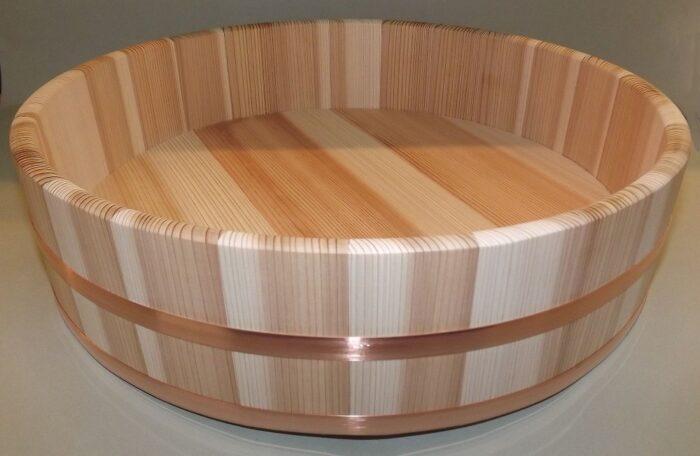 HON SUGI Hangiri 39cm - japanisches Zedernholz mit Kupferreifen - exklusiv für uns gefertigt ! 1