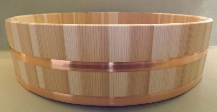 HON SUGI Hangiri 39cm - japanisches Zedernholz mit Kupferreifen - exklusiv für uns gefertigt ! 2