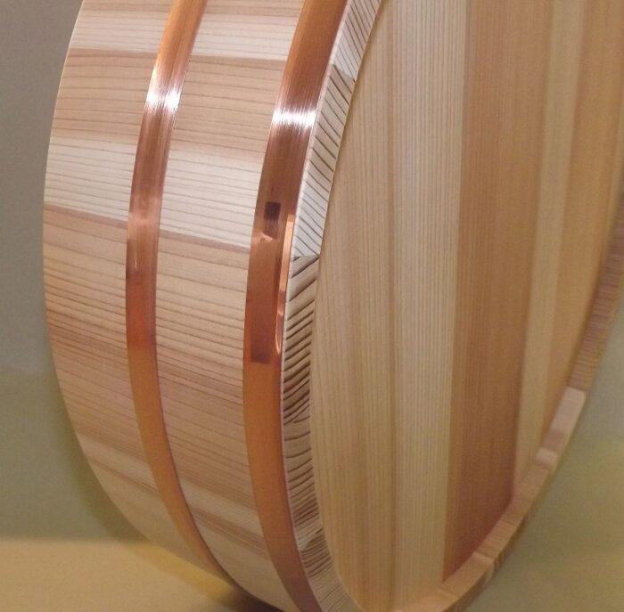 HON SUGI Hangiri 39cm - japanisches Zedernholz mit Kupferreifen - exklusiv für uns gefertigt ! 6