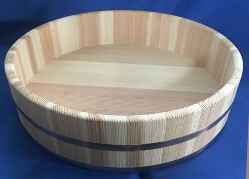 SUGI Hangiri 39 cm Zedernholz mit Kupferreifen - EXKLUSIV für uns gefertigt ! 1