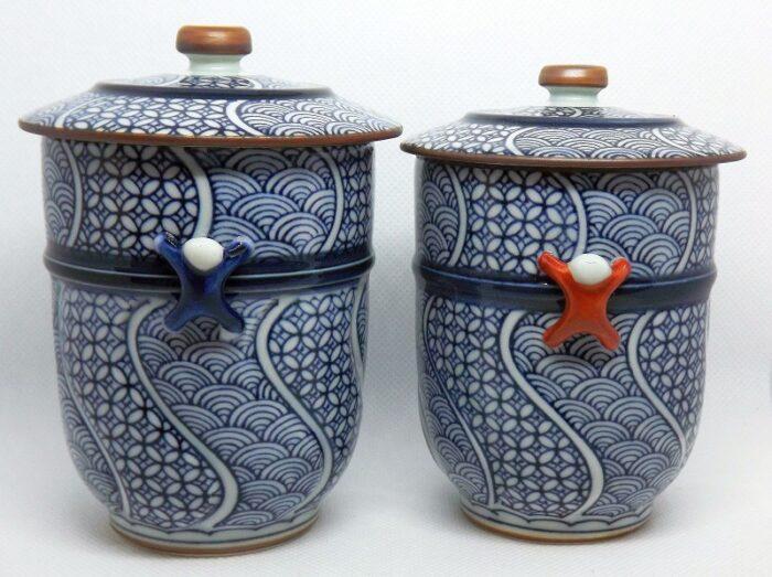 Kiyomizu Cups mit Deckel 1 Paar Arita 1
