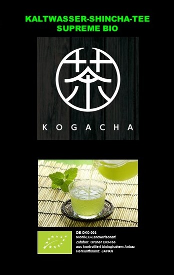 BIO Kaltwasser Shincha Supreme No.1 (Mizudashi) 5 x 10g Pyramidenbeutel    DE-ÖKO-039 10