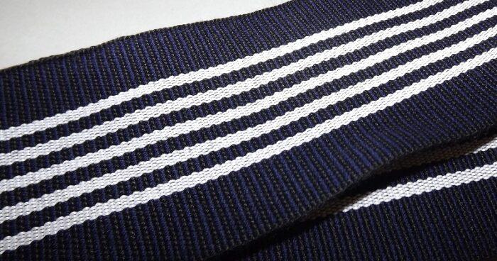 Kaku-Obi schwarz-blau mit weiß 1