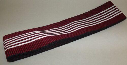 Kaku-Obi schwarz-rot mit weiß 4