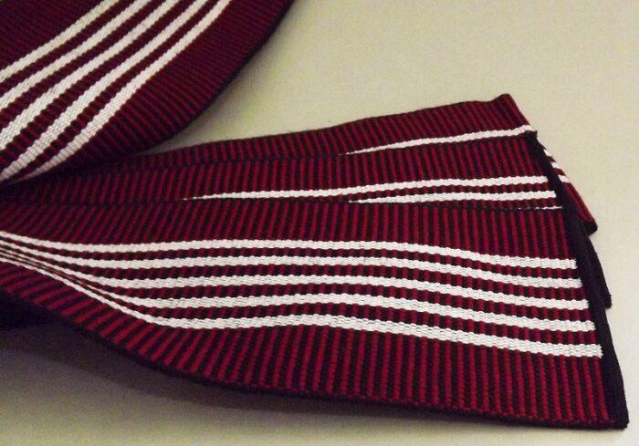 Kaku-Obi schwarz-rot mit weiß 1