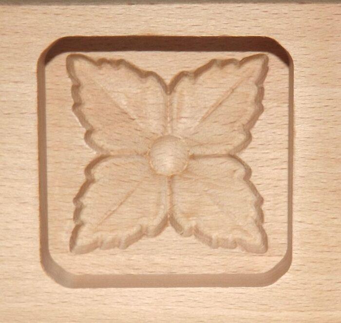 Wagashi Mold - 3 Blüten - Former für japanische Süßigkeiten (Asien) 1
